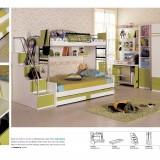 Piętrowe łóżko jest bardzo funkcjonalne. Zabiera mniej miejsca, dodatkowo w schodkach są ukryte pojemne szuflady.
