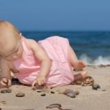 Zamki na piasku, babki na piasku, dzieci na piasku i babki, czyli kobiety w ciąży na piasku - to temat konkursu