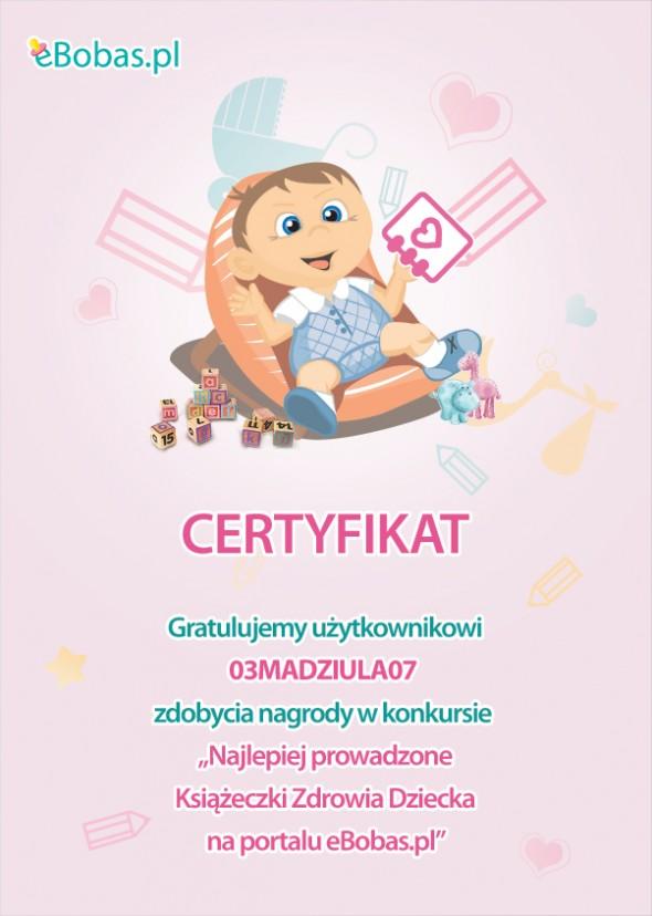 Konkurs na najlepiej prowadzone Książeczki Zdrowia Dziecka