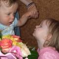 Na roczek dostałem pierwsze kwiaty od kobiety :)