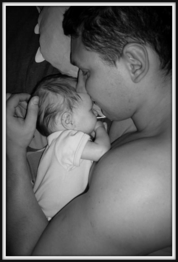 Z tatą zawsze super sen :)