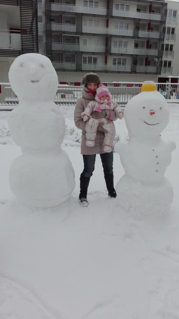 Zdjęcie zgłoszone na konkurs eBobas.pl Zima nie moze zabraknac balwankow. Nam sie udalo je spotkac .