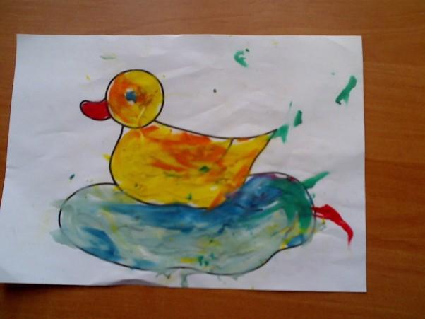 Szymcio - 2 latka i miesiąc Szymuś z małą pomocą mamy stworzyli takie oto dzieło :)