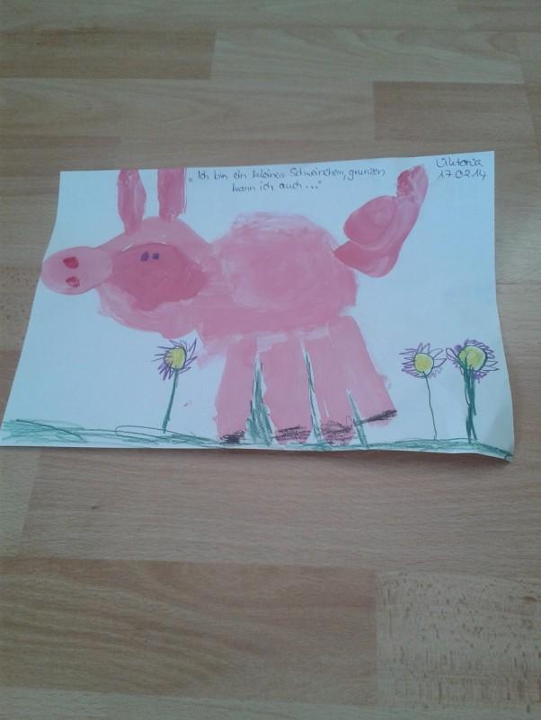 Zdjęcie zgłoszone na konkurs eBobas.pl Swinka czyszczoszka :) Viktoria 6 lat