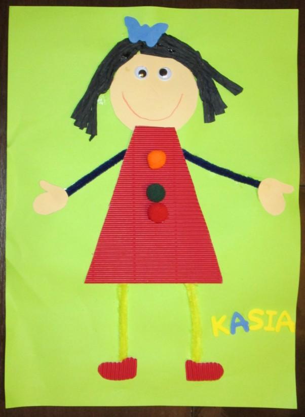 Portret Kasi w wykonaniu Krzysia :) Tak Krzyś (7 lat) widzi swoją siostrzyczkę Kasię :)