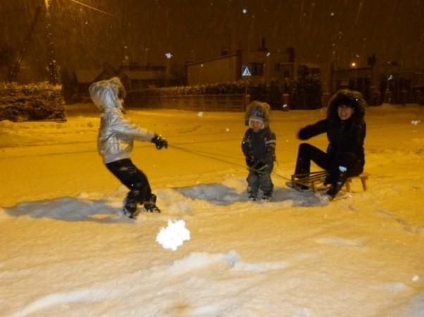 Zabawa na śniegu:)