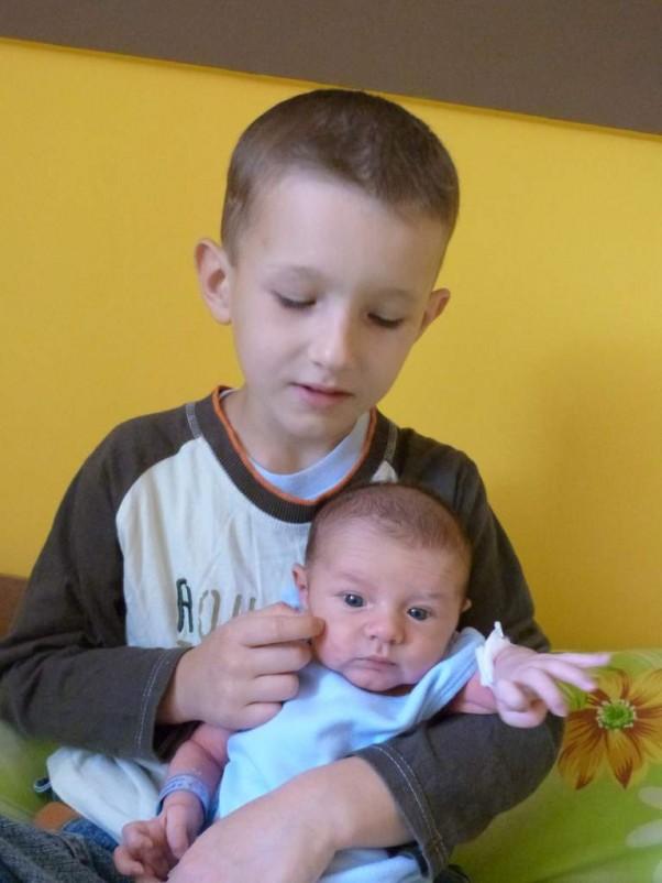 Ksawek i Filipek Doczekałam się mojego małego siostrzeńca - Filipka:)