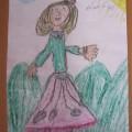 Autoportret Karolinki 6 lat