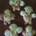 Aniołki na choinkę wykonane przez Adrianka 5lat, Arusia 3latka i Karolinkę 7lat