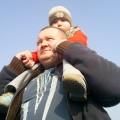 Kubuś z tatusiem.
