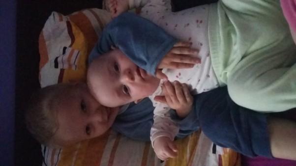 Wiktoria i Piotrek  Moje małe słoneczka.