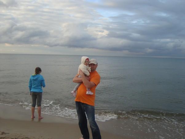 z Tatą na plaży