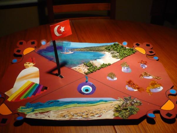 """praca o Turcji Jest to praca mojej córki (lat 7 )pt."""" Turcja oczami dziecka""""."""