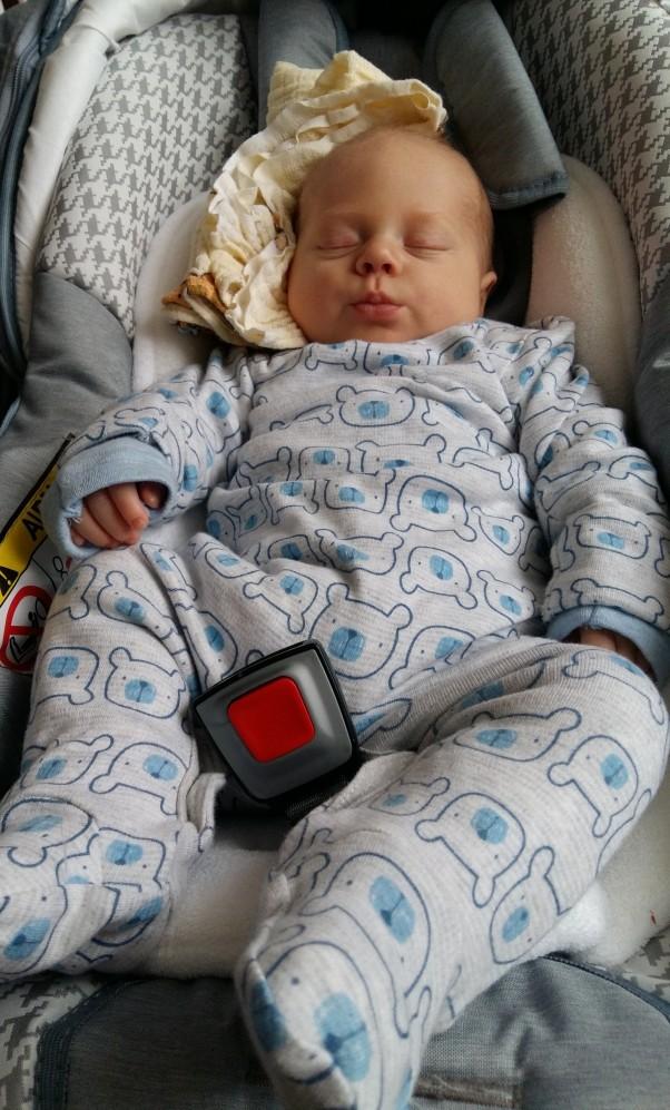 Po podróży trzeba odespać i puścić dziubka rodzicom :)