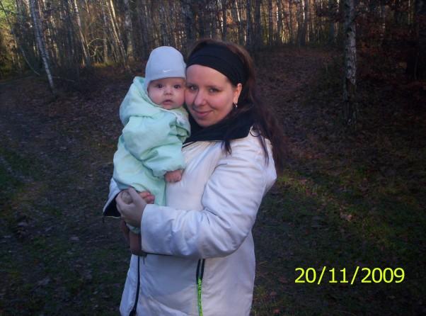 Z mamą Z mamusią jesiennie