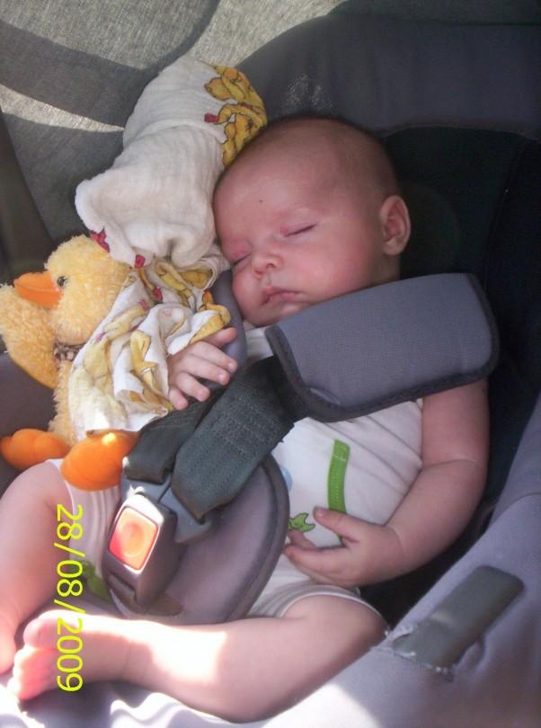 Śpię Uwielbiam spać podczas jazdy samochodem
